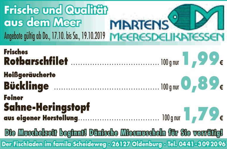 Frische und Qualität aus dem Meer - Unser Angebot gültig vom 17. bis 19.10.2019